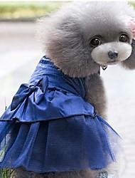 baratos -Cachorros / Gatos / Animais Pequenos Peludos Vestidos Roupas para Cães Jacquard / Coração / Princesa Azul Escuro / Vermelho / Rosa claro Jacquard Algodão / Algodão Ocasiões Especiais Para animais de