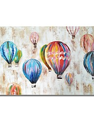 cheap -STYLEDECOR Modern Hand Painted Abstract Colorful Balloon on Canvas Oil Painting for Wall Art