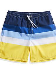 cheap -Men's Swimming Trunks / Swim Shorts Ultra Light (UL), Quick Dry, Breathable POLY Swimwear Beach Wear Board Shorts / Bottoms Stripe Surfing / Beach / Watersports