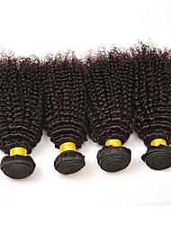 abordables -4 offres groupées Cheveux Indiens / Cheveux Vietnamiens Kinky Curly Non Traités / Cheveux humains Cadeaux / Costumes Cosplay / Tissages de cheveux humains 8-28 pouce Tissages de cheveux humains