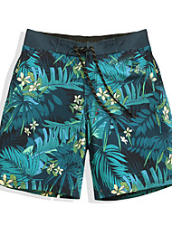 cheap -Men's Swim Shorts Ultra Light (UL), Quick Dry, Water Repellent POLY / Elastane Swimwear Beach Wear Board Shorts / Bottoms Floral / Botanical Surfing / Beach / Watersports