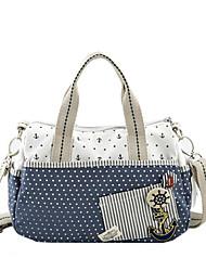 cheap -Women's Bags Canvas Tote Zipper Blue / Blushing Pink / Dark Blue