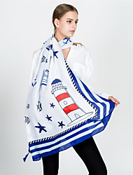 cheap -Women's Party / Holiday Rectangle - Print Blue & White, Tassel