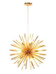 Недорогие -современный металлический люстр с металлическими люстрами фейерверк северная Европа винтажная гостиная столовая подвесные светильники e12 / e14 лампа база