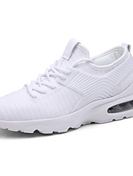 cheap -Men's Knit / Elastic Fabric Fall Comfort Athletic Shoes Running Shoes White / Black / Red