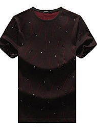 abordables -Hombre Camiseta, Escote Redondo A Lunares / Manga Corta