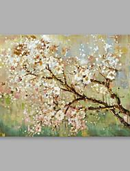 abordables -Pintura al óleo pintada a colgar Pintada a mano - Floral / Botánico Modern Lona