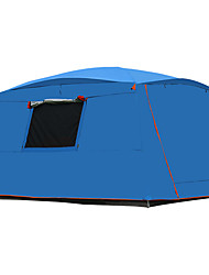 cheap -21Grams 8 pcs Family Tent Double Layered Poled Camping Tent Outdoor Lightweight, Rain-Proof, Keep Warm for Camping / Hiking / Caving / Picnic >3000 mm Oxford Cloth 365*365*220 cm / Windproof