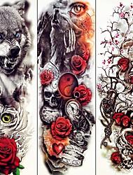 Недорогие -3 pcs Временные татуировки Тату с животными / Тату с цветами Гладкий стикер / Экологичные / Одноразового использования Искусство тела рука / Временные татуировки в стиле деколь