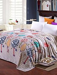 Недорогие -Коралловый флис, Активный краситель Геометрический принт / Природа и пейзажи Хлопок / полиэфир одеяла