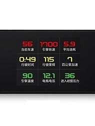 abordables -P12 3 pouce LCD Câblé Affichage tête haute Vision nocturne / Affichage multifonctionnel / Alarme haute température pour Automatique Mesurer la vitesse de conduite / Vitesse de conduite / Afficher KM