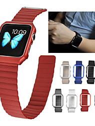 economico -Cinturino per orologio  per Apple Watch Series 4/3/2/1 Apple Cinturino sportivo Vera pelle Custodia con cinturino a strappo