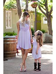 economico -Adulto / Bambino / Bambino (1-4 anni) Mamma e io Tinta unita Senza maniche Salopette e tuta