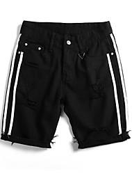 cheap -Men's Basic Jeans / Shorts Pants - Color Block Hole
