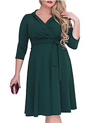 cheap -Women's Loose Swing Dress V Neck