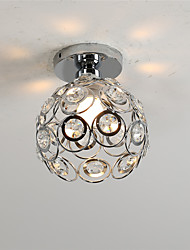 cheap -Chrome Modern Crystal Mini Style Metal Flush Mount Living Room Bedroom Dining Room Light Fixture