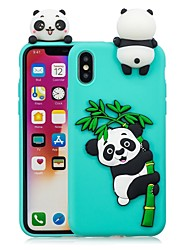 billige -Etui Til Apple iPhone X / iPhone 8 Plus GDS Bagcover Panda Blødt TPU for iPhone X / iPhone 8 Plus / iPhone 8