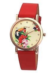 Недорогие -Жен. Нарядные часы Японский Японский кварц Стеганная ПУ кожа Белый / Красный / Розовый 30 m Защита от влаги Очаровательный Творчество Аналоговый Дамы Элегантный стиль - Лиловый Красный Розовый