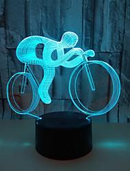 Недорогие -1шт 3D ночной свет USB Сенсорный датчик / Креатив / С портом USB