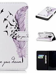 Недорогие -Кейс для Назначение SSamsung Galaxy S9 / S9 Plus / S8 Plus Кошелек / Бумажник для карт / со стендом Чехол Перья Твердый Кожа PU