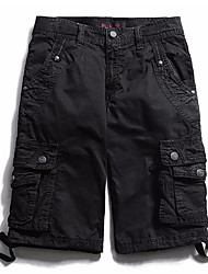 economico -Per uomo Moda città Cargo Pants Pantaloni - Tinta unita