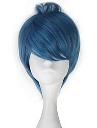 Недорогие -Косплей Косплей Косплэй парики Все 12 дюймовый Термостойкое волокно Чернильный синий Аниме