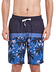 cheap -SBART Men's Swim Shorts Waterproof, Quick Dry, Breathable Polyester / Spandex Swimwear Beach Wear Board Shorts Reactive Print Surfing / Beach / Water Sports / Stretchy