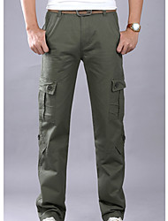 cheap -men's linen chinos pants - solid colored