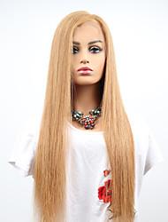 abordables -Cabello Remy Encaje Completo Peluca Cabello Brasileño Recto Peluca Corte asimétrico 130% Mujer / Fácil vestidor / sexy lady Mujer Longitud Media Pelucas de Cabello Natural