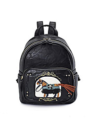 cheap -Women's Bags PU(Polyurethane) School Bag Zipper Black / Blushing Pink / Dark Blue