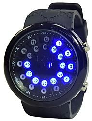 Недорогие -Муж. Спортивные часы Кварцевый Календарь Фосфоресцирующий силиконовый Группа Цифровой Мода Черный - Черный