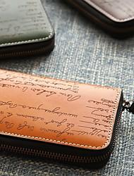 baratos -sacos de mulheres carteira de couro nappa zipper azul / preto / camelo