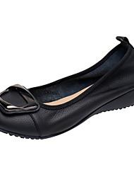 abordables -Femme Chaussures Cuir Nappa Automne Confort Ballerines Hauteur de semelle compensée Bout fermé Noeud Beige / Gris / Bleu
