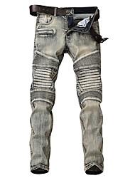 abordables -Hombre Chic de Calle Vaqueros Pantalones - A Rayas