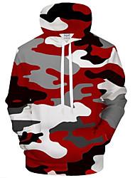 baratos -Homens Activo / Exagerado Moletom - Estampado, 3D / Desenho Animado