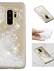 ieftine -Maska Pentru Samsung Galaxy S9 Plus / S9 Scurgere Lichid / Model / Luciu Strălucire Capac Spate Luciu Strălucire / Păpădie Moale TPU pentru S9 / S9 Plus / S8 Plus