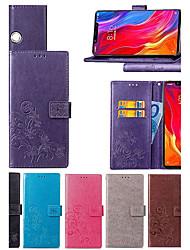 Недорогие -Кейс для Назначение Xiaomi Redmi S2 / Mi 8 Explorer Кошелек / Бумажник для карт / со стендом Чехол Мандала / Бабочка Твердый Кожа PU для Xiaomi Redmi Note 5 Pro / Xiaomi Mi 8 SE / Xiaomi Mi 6X(Mi A2)