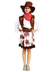 baratos -Fantasias Roupa Para Meninas Dia Das Bruxas / Carnaval / Dia da Criança Festival / Celebração Trajes da Noite das Bruxas Marron Sólido / Halloween Dia Das Bruxas