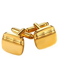 cheap -Rectangle Black / Silver / Golden Cufflinks Copper Simple / Fashion Men's Costume Jewelry For Gift / Daily