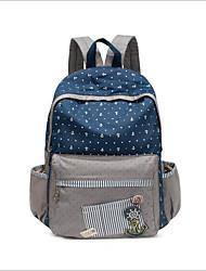 cheap -Women's Bags Canvas School Bag Zipper Blue / Blushing Pink / Dark Blue