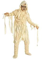 baratos -Fantasias Roupa Para Meninos Dia Das Bruxas / Carnaval / Dia da Criança Festival / Celebração Trajes da Noite das Bruxas Bege Sólido / Halloween Dia Das Bruxas