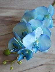 economico -Fiori Artificiali 1 Ramo Classico Rustico Orchidee Alberi di Natale