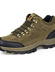 cheap -Men's Suede Winter Comfort / Fluff Lining Athletic Shoes Hiking Shoes Brown / Green