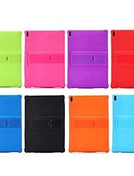 billiga -fodral Till Lenovo Tab 4 10 Plus / Tab 4 10 Stötsäker / med stativ Skal Enfärgad Mjukt Silikon för Lenovo Tab 4 10 Plus / Lenovo Tab 4 10