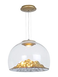 Недорогие -QIHengZhaoMing перевернутый Подвесные лампы Рассеянное освещение 110-120Вольт / 220-240Вольт, Теплый белый, Лампочки включены / 15-20㎡ / Интегрированный светодиод