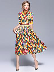 cheap -SHIHUATANG Women's Boho / Street chic A Line / Swing Dress - Floral Print