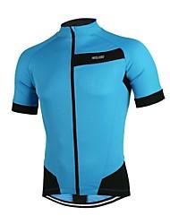 abordables -Arsuxeo Manga Corta Maillot de Ciclismo - Rojo / Verde / Azul Bicicleta