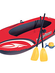 cheap -2 Persons Inflatable Boat Set with Hand Air Pump, French Oars PVC Portable folding Fishing / Boating / Water Sports 196*114 cm