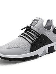 cheap -Men's Knit / Elastic Fabric Summer Comfort Athletic Shoes Running Shoes Color Block Black / Gray / Red