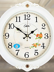cheap -European Plastic & Metal Round Indoor,AA Batteries Powered Wall Clock